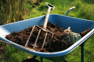 wheelbarrow compost